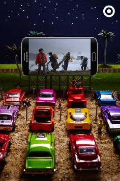 Looking for a rainy-day kids activity? Gather up the toy cars, prop up the smart phone, hit play on your favorite summer blockbuster, and you've got yourself a DIY drive-in. Here's to the Great Indoors!