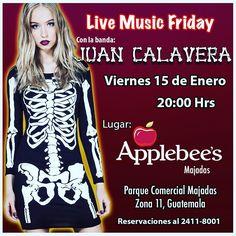 Hoy es Noche para sacudir los Huesos! Nos vemos en @applebeesgt de Majadas 8PM todos invitados #juancalaveraontour