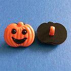 8 Pumpkin DIY Bag Decor Halloween Craft Sewing Buttons Scrapbooking K51