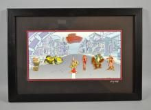 WHO FRAMED ROGER RABBIT 1988-1998 10TH ANNIVERSARY PIN COLLECTION  814/1988 - Measures: Visable Art: 6.5''H x 12.5''W, Frame: 12.5''H x 18''W - Condition: Age appropriate wear; All items sold as is.