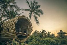 Luxury travel accommodations CAN be environmentally-friendly! Case in point: a cylindrical treehouse made with sustainable bamboo in Juluchuca, Mexico.