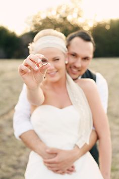My dear friend Corey and his wife Eliya <3  Such a cute picture and a great inspiration for a country wedding!