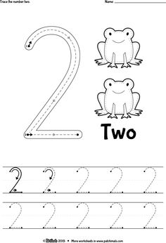 number 2 tracing worksheets easy This time we have prepared the best collection of number 2 tracing worksheets in high definition for you to print! Preschool Number Worksheets, Teaching Numbers, Preschool Writing, Numbers Preschool, Free Preschool, Preschool Learning, Kindergarten Worksheets, Preschool Activities, Letter Tracing Worksheets