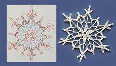 Crochet Snowflake Pattern, Crochet Snowflakes, Crochet Motif, Crochet Lace, Crochet Angels, Crochet Stars, Crochet Christmas Ornaments, Christmas Crochet Patterns, Knitting Paterns