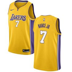 ff22de9e7 Nike Lakers  7 Larry Nance Jr. Gold NBA Swingman Icon Edition Jersey Larry  Nance
