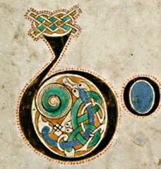 images of the letter b | The Book of Kells: Initial letter B
