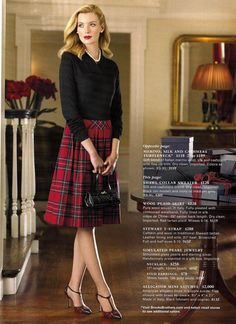 I would have worn this in my 20's...love plaid skirts.