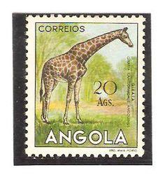 Angola 1953, 20 Ags. Giraffe.