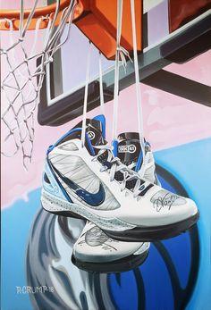 78b9dab2f1e Sneaker art for dirk nowitzki by ak rapheal crump Mystery of the flying  kicks Sneaker Art