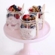 Wooden Demitasse Spoons – Cute for a Dessert Display or granola & yogurt on a brunch display.