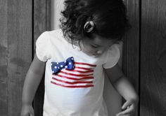 Another diy 4th of July T-shirt idea for Tay with ribbon & bow