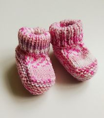 Ravelry: One-Piece Baby Booties by Knot Sew Prisca -- free pattern