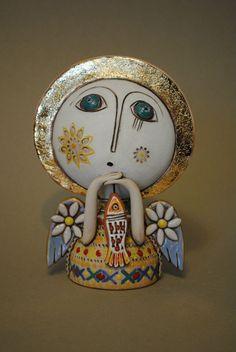 Pottery Angels, Clay Angel, Little Cherubs, Cement Art, Ceramic Angels, Paperclay, Gourd Art, Angel Art, Mural Art