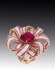 Chanel Ruby and Diamond ring
