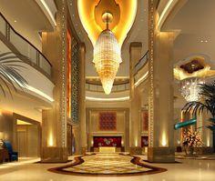 Impressive hotel lobby  - 6 Ways Hotel Lobbies Teach us About Interior Design