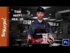 Your Happy Meal Sir | (Fun) Speed Art - Photoshop CS6 Time lapse video -...