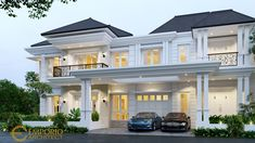 Suherman Private House Design - Cibubur, Jakarta Timur- Quality house design of architectural services, experienced professional Bali Villa Tropical designs from Emporio Architect. Classic House Exterior, Classic House Design, Modern Villa Design, Dream House Exterior, Casa Top, House Outside Design, House Plans Mansion, Modern House Facades, Architectural House Plans