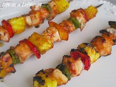 Sweet BBQ Chicken Kabobs! soooo good. perfect healthy summer food!