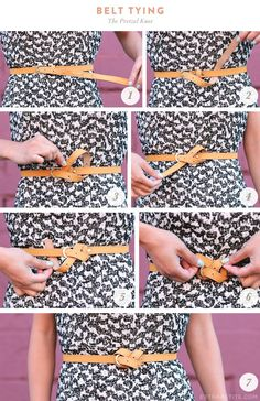 Pretzel belt - styling a too-long belt