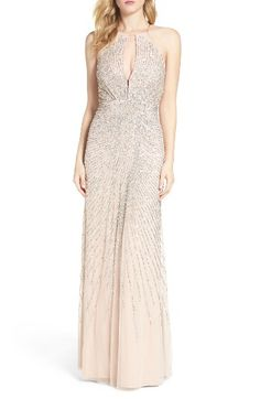 Free shipping and returns on Adrianna Papell Beaded Mesh Fit & Flare Gown at Nordstrom.com. Glittering beads and sequins radiate from the plunging keyhole of an alluring, versatile-hue gown overlaid in airy mesh.
