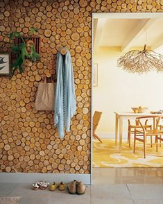 Wood Log Wall for the summer house