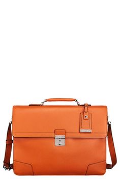 Orange - the perfect color for this briefcase.  Tumi 'Astor Dorilton - Slim Flap' Embossed Leather Briefcase available at #Nordstrom