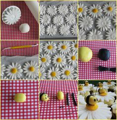 http://sweettreetscakery.blogspot.com.au/2013/03/bee-and-daisy-cupcake-topper-tutorial.html