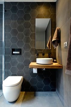 Luxury Bathroom Master Baths Rustic is categorically important for your home. Whether you pick the Small Bathroom Decorating Ideas or Dream Master Bathroom Luxury, you will create the best Luxury Bathroom Master Baths Wet Rooms for your own life. Bathroom Renos, Master Bathroom, Bathroom Black, Bathroom Modern, Small Bathrooms, Minimalist Bathroom, Bathroom Marble, Master Baths, Bathroom Remodeling
