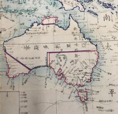 A Japanese map of Australia from 1862 (600×583) CLICK HERE FOR MORE MAPS! thelandofmaps.tumblr.com