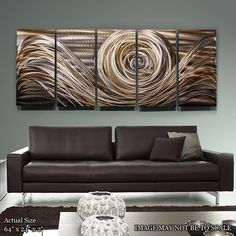 Abstract Metal Art Painting / Spiral of Emotions by statements2000, $350.00