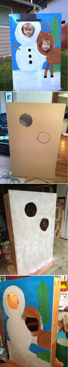 Cheap and Easy Cardboard Photo Booth Ideas for Kids by DIY Ready at http://diyready.com/20-diy-photo-booth-ideas/