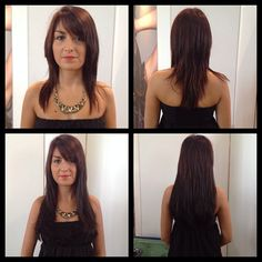 """@Victoria Casciola's photo: """"#mcbparis #parishairshow  she wanted to change her image and haircut ... So by just adding 4 packs of #55 and #4  she is a brunette bombshell !  @hairtalkUsa"""""""