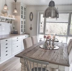 My kitchen ✔️ By Vintage Kitchen, Shabby Chic, Dining Table, Rustic, Luxury, Beautiful, House, Furniture, Kitchen Inspiration