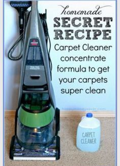 """"""" The Best Ever Homemade Carpet Cleaning Solution"""" - Musely"""