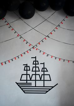 Washi Tape for Parties / Fiestas washi tape sailboat and bunting