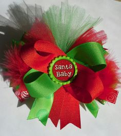 Interchangable Christmas Hair Bow for girls. Baby Girl Hair Bows, Diy Hair Bows, Girls Bows, Baby Bows, Frozen Disney, Christmas Hair Bows, Christmas Crafts, Boutique Hair Bows, Diy Headband