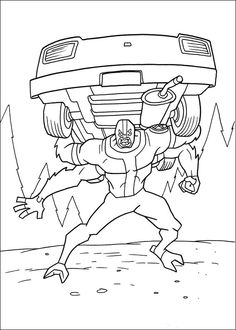 Ben 10 Coloring Pages For Kids 16