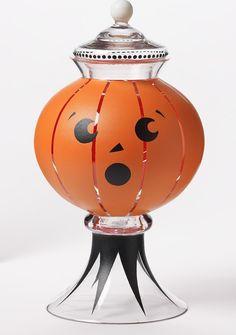 Martha Stewart Surprised Pumpkin Apothecary Jar #PlaidCrafts
