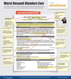 Resume Mistakes - Worst Ever Blunders You Need to Avoid Infographic