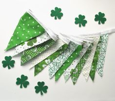 St Patrick's Day Bunting/ Irish Flags/ by TextileTrolley on Etsy. , via Etsy.