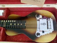 Vintage Oahu Dinah Electric Hawaiian Lap Steel Guitar Locking Case w Key Good | eBay