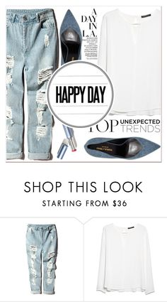 """Happy Day"" by lucky-1990 ❤ liked on Polyvore featuring MANGO and Yves Saint Laurent"
