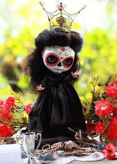 Sugar Skull Day of the Dead Blythe Doll