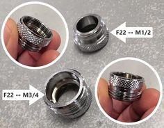Riduzioni per rubinetti e aeratori #idraulica F22, Garlic Press