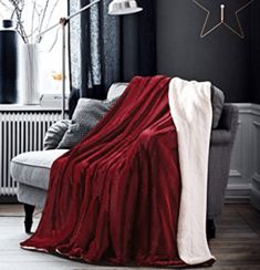 HoroM Soft Cozy Fluffy and Warm Sherpa Blanket Wine Red Throw Blankets for Bed or Couch Couch Blanket, Red Blanket, Fuzzy Blanket, Couch Throws, Couch Pillows, Fluffy Blankets, Throw Blankets, Baby Blankets, Deep Couch