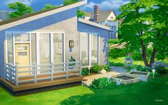 SIMPLE MODERN STARTER Residential Lot by Alachie and Brick Sims Just a smaller starter house that has everything you need. I throw the term 'starter' around loosely as it almost costs 50,000...