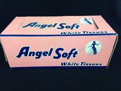 Vintage New Old Stock Deadstock ANGEL SOFT Facial Tissues Advertising Prop USA #AngelSoft