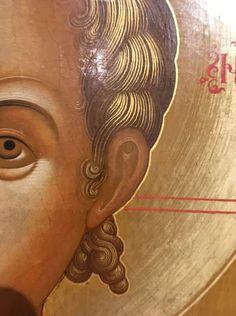Byzantine Icons, Byzantine Art, Face Icon, Russian Icons, Orthodox Icons, Hair And Beard Styles, Christian Art, Ikon, Fresco