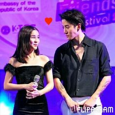 Thai actors and onscreen couple Mike and Aom star in Kiss Me and Full House. Mike often looks at Aom with such intensity and warmth - click through for quick video showing his attentiveness to her.