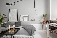 Find out why modern living room design is the way to go! A living room design to make any living room decor ideas be the brightest of them all. Decoration Gris, Decoration Inspiration, Interior Inspiration, Lamp Inspiration, Decor Ideas, Home Living Room, Living Room Designs, Living Room Decor, Bedroom Decor